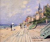 The Boardwalk At Trouville-Monet